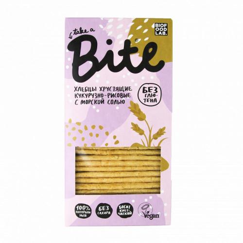 Хлебцы Кукурузно- рисовые с морской солью 150гр (Bite)