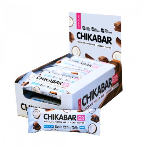 Батончик глазированный Кокос 60 гр (Chikalab)
