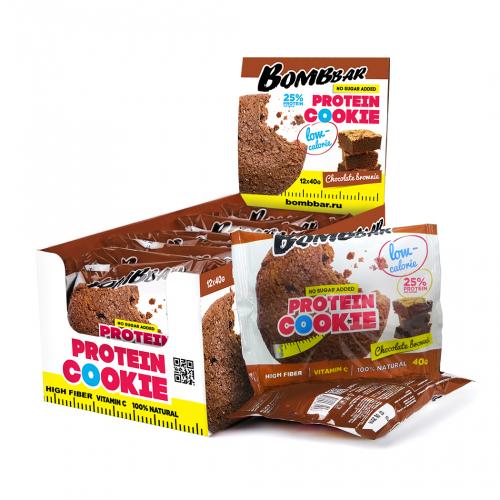 Печенье неглазированное Шоколадный брауни 40гр (Bombbar)