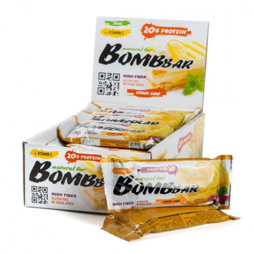 Батончик неглазированный Лимонный торт 60гр (Bombbar)