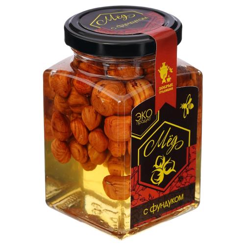 Орехи в меду Фундук 300гр (Добрые традиции)
