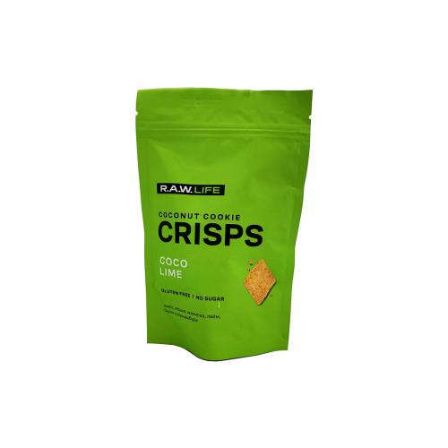 Крекер Crisps Кокос лайм 75гр (Raw life)
