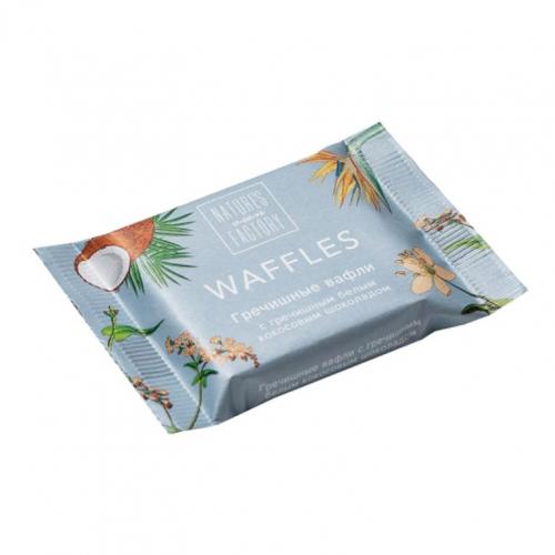 Гречишные вафли с гречишным белым кокосовым шоколадом 20гр (Natures factory)