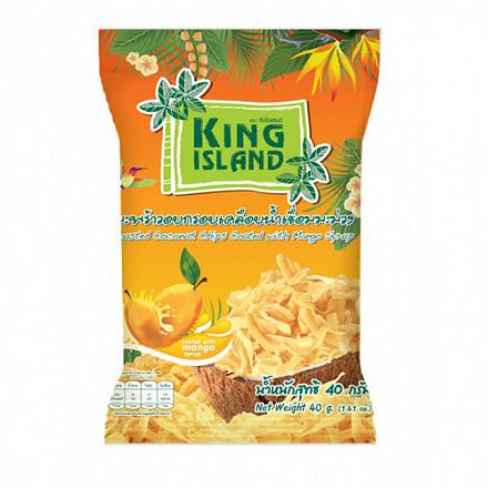 Кокосовые чипсы со вкусом манго 40гр (King island)