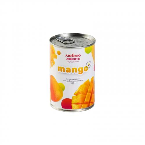 Пюре манго 430гр (Люблю жизнь)