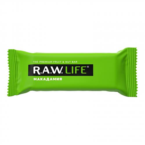 Батончик Макадамия 47гр (Raw life)