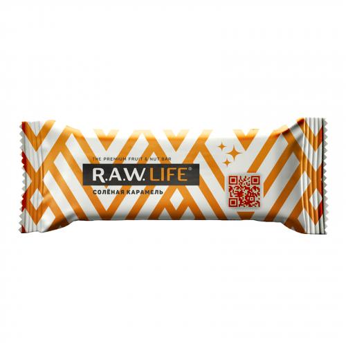 Батончик Соленая карамель 47гр (Raw life)