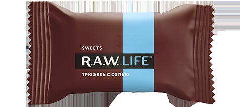 Конфета Трюфель с солью 18гр (Raw life)