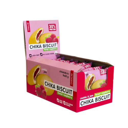 Печенье Бисквит лесная малина 50гр (Chikalab)