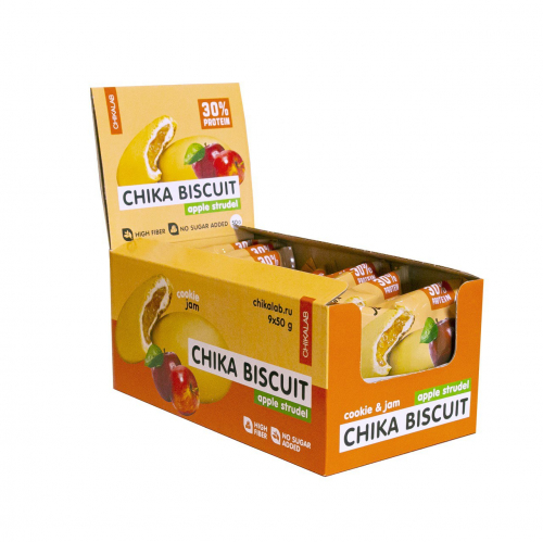 Печенье Бисквит яблочный штрудель 50гр (Chikalab)