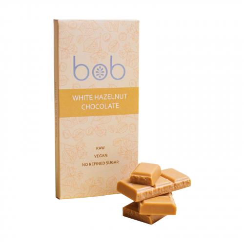 Шоколад белый фундучный 50гр (Bob)