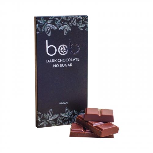 Шоколад низкоуглеводный темный 50гр (Bob)