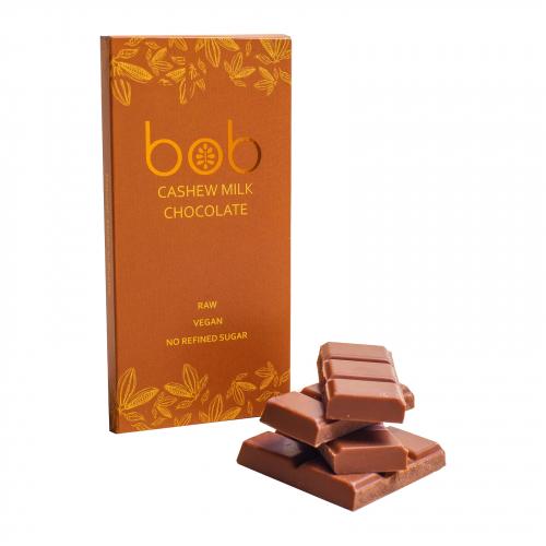 Шоколад молочный на кешью и зеленой гречке 50гр (Bob)
