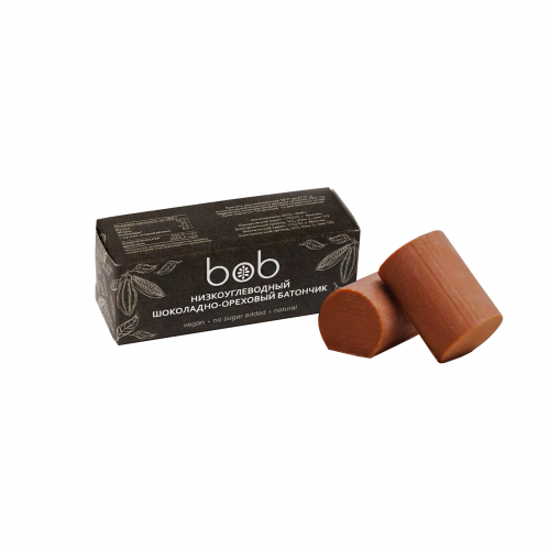 Батончик шоколадно- ореховый низкоуглеводный 50гр (Bob)