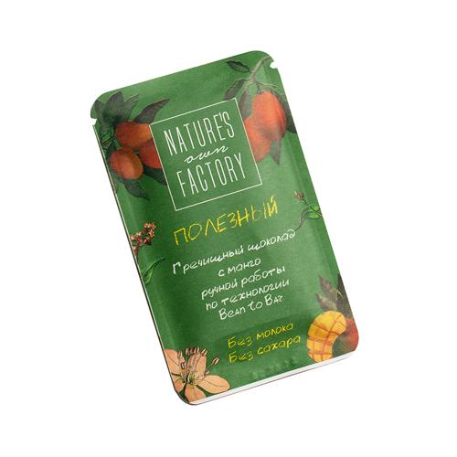 Шоколад гречишный манго 20гр (Natures factory)
