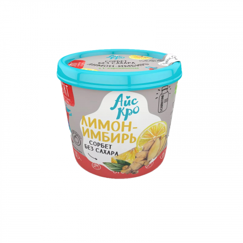 Мороженое Сорбет Лимон-имбирь 75гр (Айс Кро)
