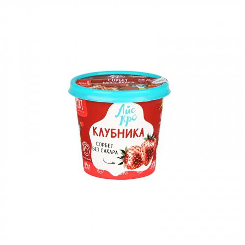 Мороженое Сорбет Клубника с L-карнитином 75гр (Айс Кро)