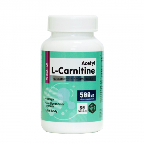 Витамин Ацетил L-карнитин 500мг (CHIKALAB)