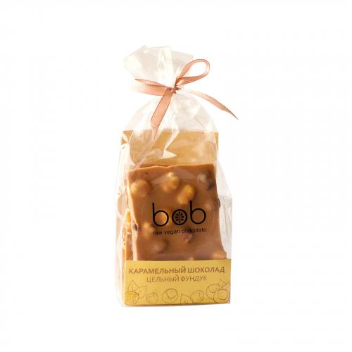 Шоколад карамельный с цельным фундуком 100гр (Bob)