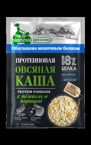 Протеиновая каша Яблоко корица 40гр (Bionova)