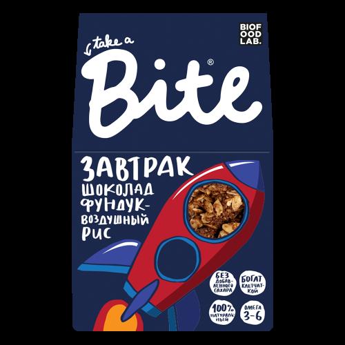 Готовый завтрак Шоколад фундук воздушный рис 270гр (Bite)