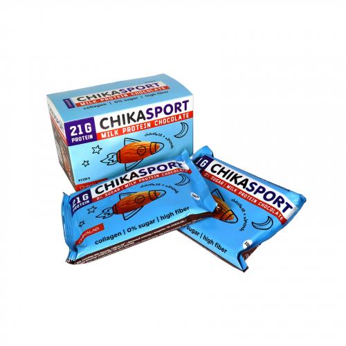 Шоколад молочный с миндалем 100гр (Chikalab)