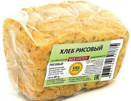 Хлеб Рисовый 500гр (Хлеб для Жизни)