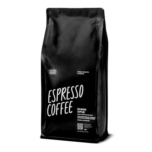Кофе Бразилия Серрадо в зернах 1кг (Tasty Coffee)