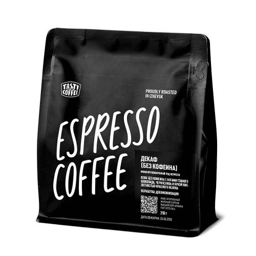 Кофе Без кофеина в зернах 250гр (Tasty Coffee)