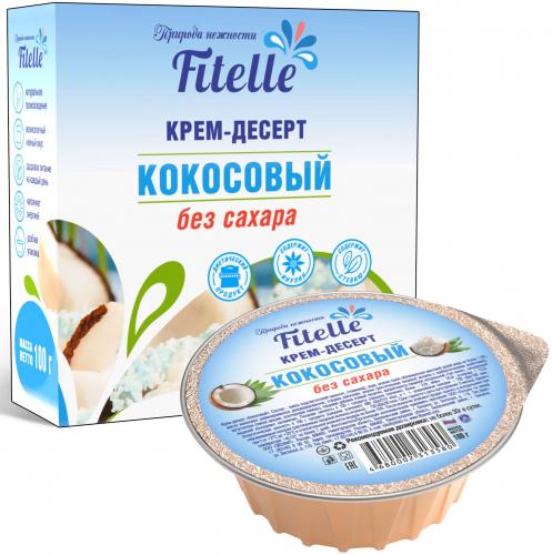 Крем десерт кокосовый 100гр (Fitelle)