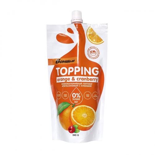 Топпинг Апельсиновый с клюквой 240гр (Bombbar)